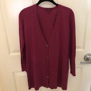 Eileen Fisher Merino Cardigan Tunic Sweater